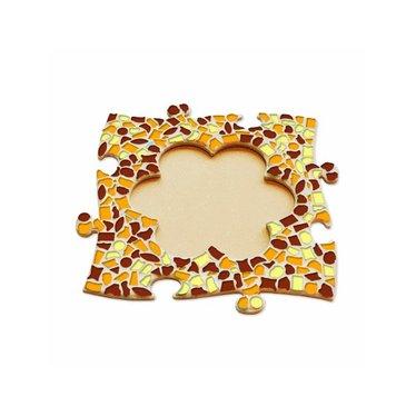 Cristallo Mosaik Bastelset Bilderrahmen Blume Braun-Orange-Gelb