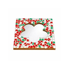 Cristallo Mosaikbastelset Spiegel Blume Weihnachten