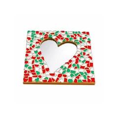Cristallo Mosaikbastelset Spiegel Herz Weihnachten