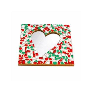 Cristallo Mosaik Bastelset Spiegel Herz Weihnachten