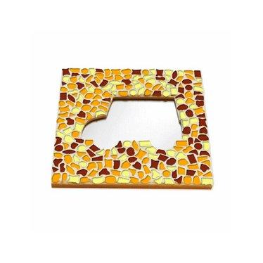 Cristallo Mosaik Bastelset Spiegel Auto Braun-Orange-Gelb