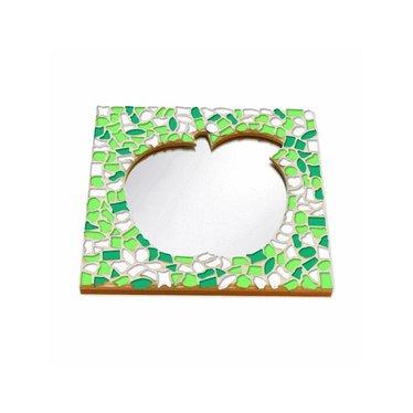 Cristallo Mosaik Bastelset Spiegel Apfel Frühling