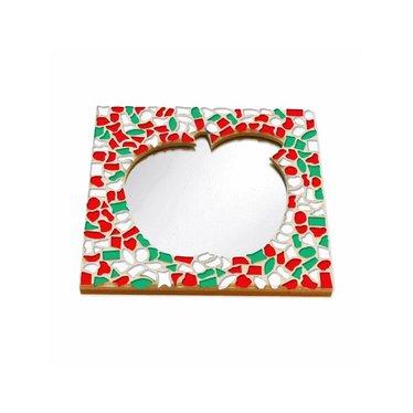 Cristallo Mosaik Bastelset Spiegel Apfel Weihnachten