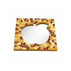 Cristallo Mosaikbastelset Spiegel Apfel Braun-Orange-Gelb