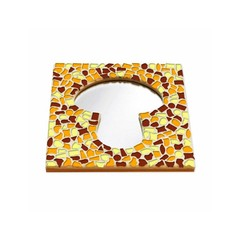 Cristallo Mosaikbastelset Spiegel Erdschwamm Braun-Orange-Gelb