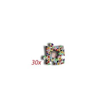 Cristallo Mini-Bilderrahmen Stern 30 Stück Mosaik Bastelset MIX