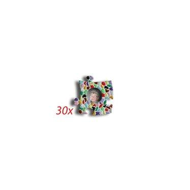 Cristallo Mini-Bilderrahmen Kreis 30 Stück Mosaik Bastelset MIX