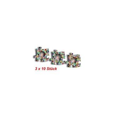 Cristallo Mini-Bilderrahmen 3x10 Stück Mosaik Bastelset MIX