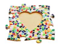 Mosaik Bastelset Bilderrahmen Kinderfeste daheim Herz