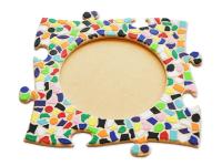 Mosaik Bastelset Bilderrahmen Kinderfeste daheim Kreis