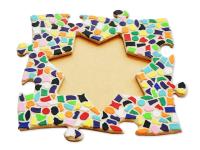 Mosaik Bastelset Bilderrahmen Kinderfeste daheim Stern