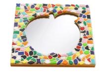Mosaik Bastelset Spiegel Kinderfeste daheim Apfel