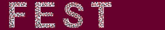 Buchstaben Farbkombination weis, schwarz und rot