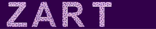 Buchstaben Fabkombination weiss, lila und violet