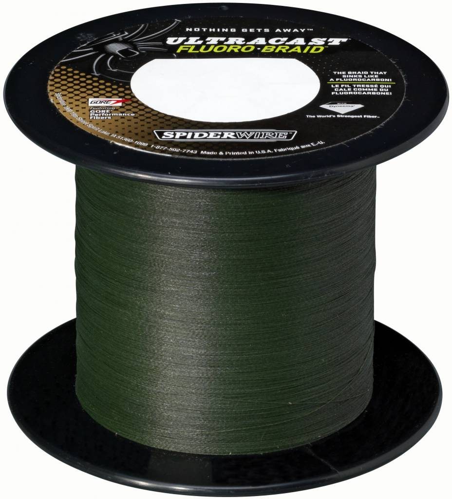 SpiderWire SpiderWire Ultracast Fluorobraid Green Dyneema Gevlochten Lijn