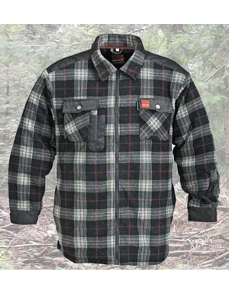 Thermo Overhemd Fleece Bruin