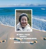 Bellenblaas - strand met foto en tekst