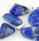 Lapis Lazuli with silver pendant, Cartier closure and Gift Bag