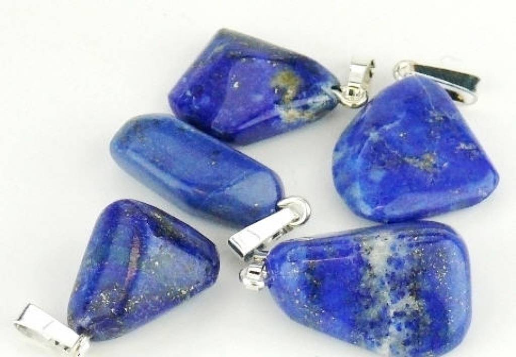 Lapis Lazuli con ciondolo in argento, chiusura Cartier e Gift Bag
