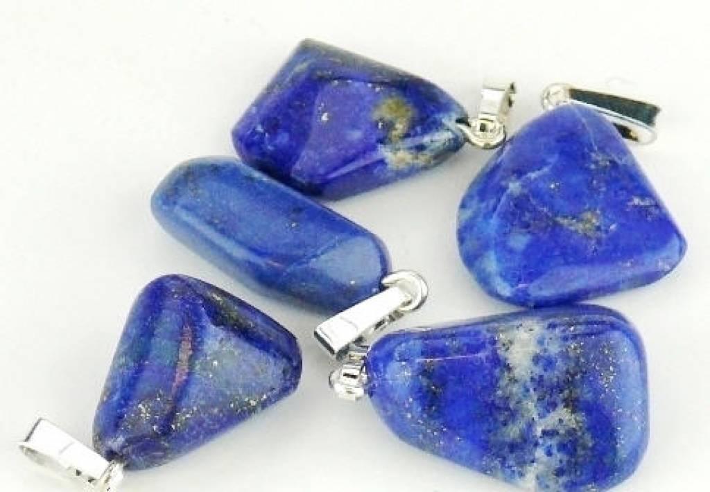 Lapis lazuli med sølv vedhæng, Cartier lukning og gavepose