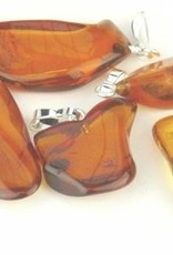 Amber with silver pendant, Cartier closure and gift bag.
