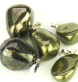 Σιδηροπυρίτη χρυσού με ασήμι μενταγιόν, Cartier και κλείσιμο τσάντα δώρο