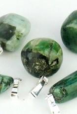 Smaragd mit silbernen Anhänger, Cartier Schließung und Geschenktüte