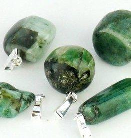 Emerald ze srebra wisiorek, zamknięcie Cartier i worek prezentów
