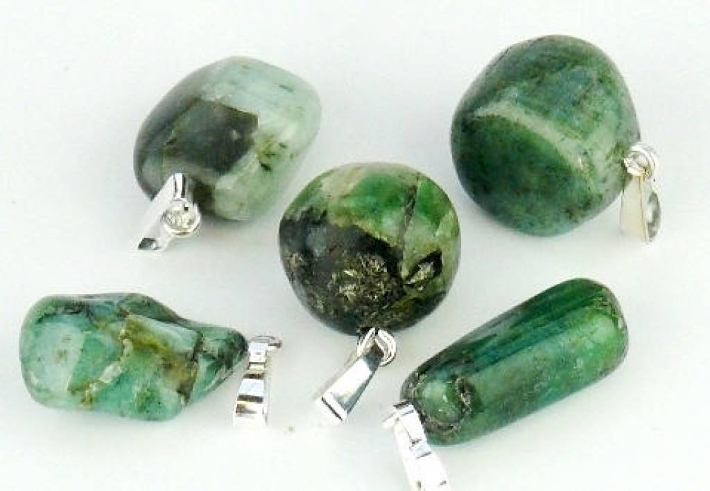 Emerald med sølv vedhæng, Cartier lukning og gavepose