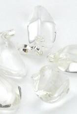 Rocha gema de cristal com pingente de prata, o fechamento Cartier e saco do presente