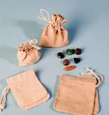 Ροκ πολύτιμος λίθος κρυστάλλου με ασημένια μενταγιόν, Cartier και κλείσιμο τσάντα δώρο