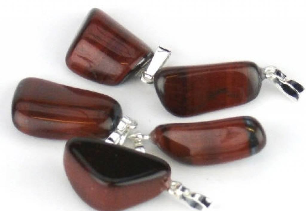 Tigereye πολύτιμος λίθος κρεμαστό κόσμημα με ασήμι, Cartier και κλείσιμο τσάντα δώρο