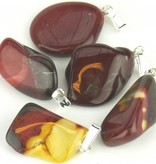Mookaite with silver pendant, Cartier closure and gift bag