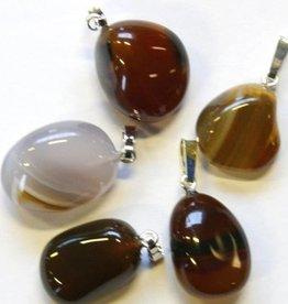 Opal-agat med silver hänge, Cartier stängning och presentpåse