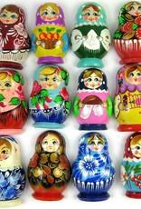 Aimant Matriochka, des couleurs différentes.