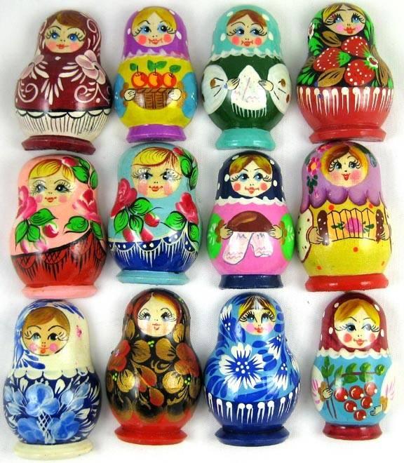 Magnes Matroshka, różne kolory.