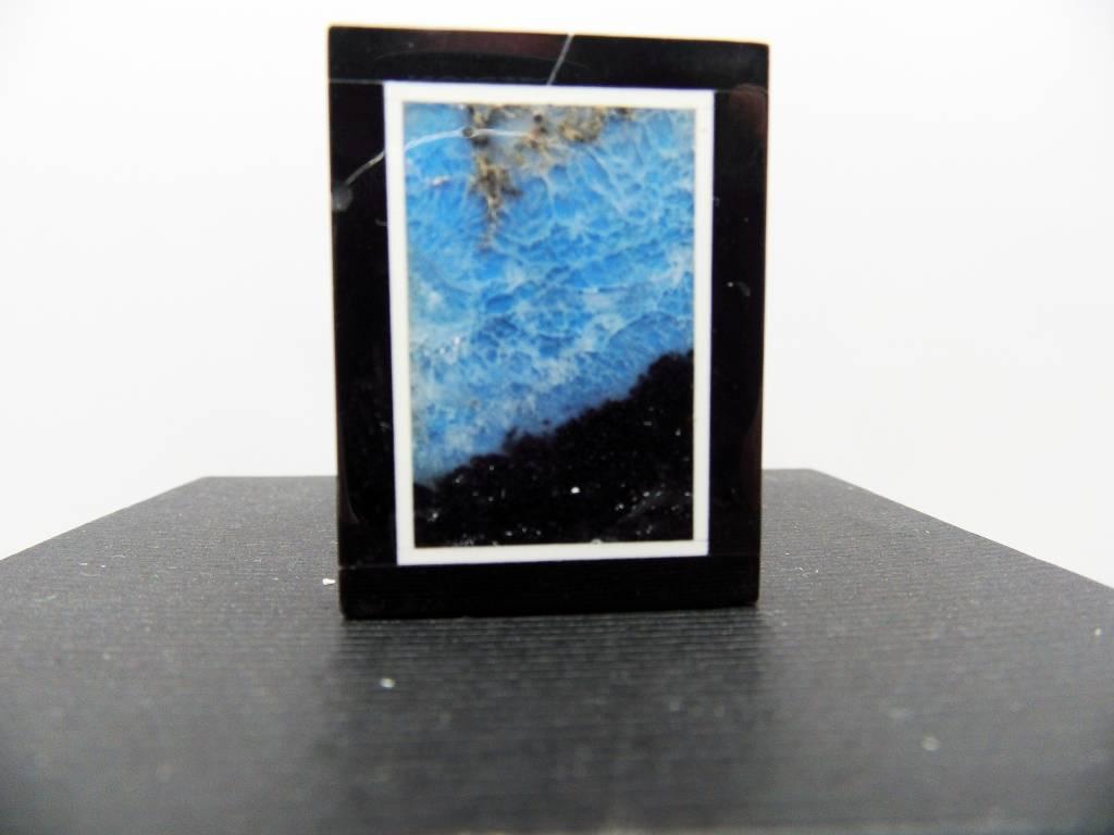 Gema colgante de piedra con amazonita azul natural