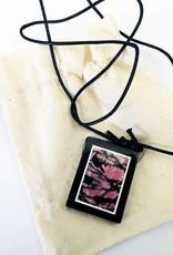 Gem pendentif en pierre naturelle Rhodonite