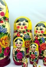 boneca rusa Semenov 10 peças (24-25 cm de altura)