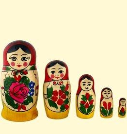 Matroschka Set 5 original Semenov 11-13cm hoch