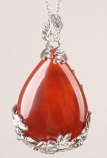 Carnelian Silver Pendant
