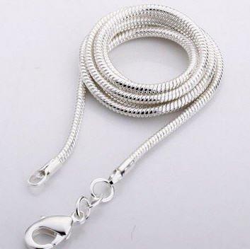 Aquamarine pingente de prata, com fechamento Cartier e saco do presente