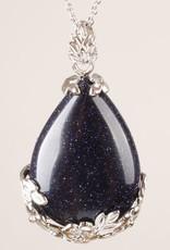 Goldstone Cristal Pingente de Prata