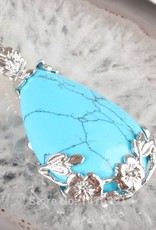 Turquesa com pingente de prata