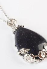 Goldstone Crystal Sølv vedhæng
