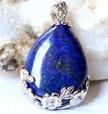 Lapis Lazuli med sølv vedhæng