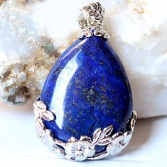 lapis lazuli with silver pendant matryoshka perfect gift for all
