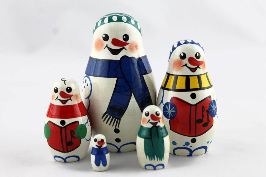 Weihnachtsmann Santa Klaus Matroschka M5 Stück 9-11 cm