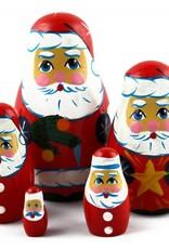 Matroschka Weihnachten Deco 9-11 cm Satz 5 Stück