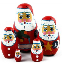 Matroesjka Kerst Deco 9-11cm Set 5